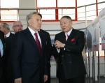Two Presidents inside new building