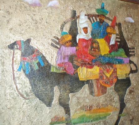 family on camel