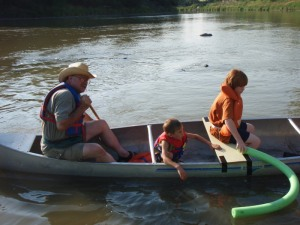 canoe fun on river