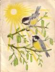 sun and birds