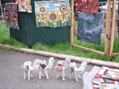 camels at bazaar