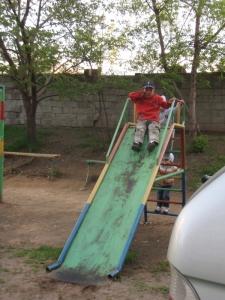 child's Soviet slide