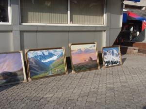 masterpieces on sidewalk