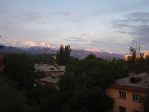 our view of mtns w moon